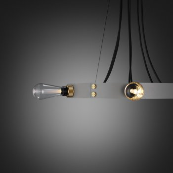 Buster + Punch Hero light stone ring brass details fit to the ring crystal buster bulb