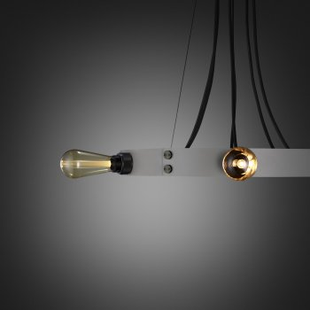 Buster + Punch Hero light stone ring smoked bronze details fit to the ring gold buster bulb