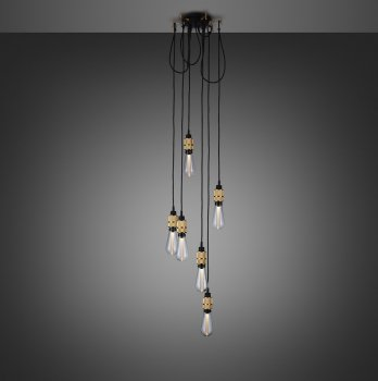 HOOKED 6.0 nude brass with buster bulb crystal ON