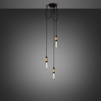 HOOKED 3.0 nude brass with buster bulb crystal ON