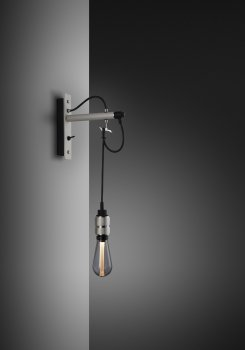 HOOKED wall nude stone & steel with buster bulb smoked ON