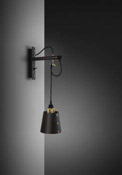 HOOKED wall small graphite shade and brass details