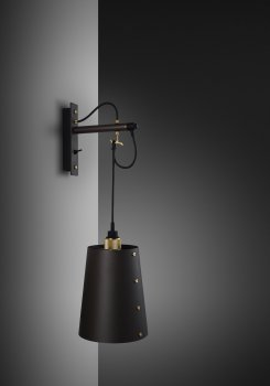 HOOKED wall large graphite shade and brass details