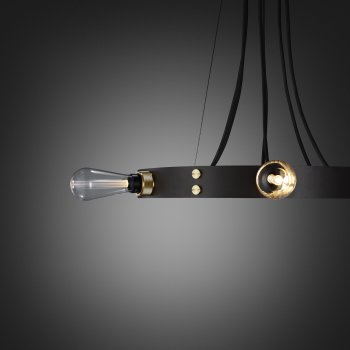 Buster + Punch Hero light graphite ring brass details fit to the ring crystal buster bulb
