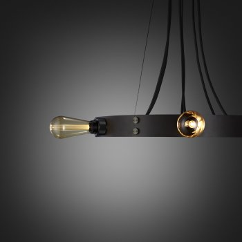 Buster + Punch Hero light graphite ring smoked bronze details fit to the ring gold buster bulb