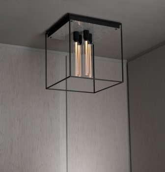 Buster & Punch CAGED Ceiling Light 4.0 Polished White Marble